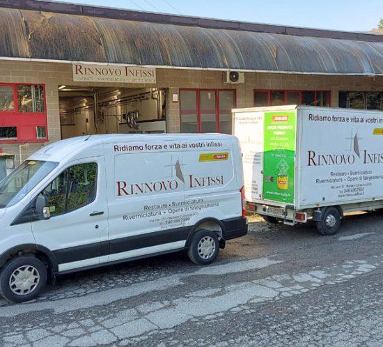 Restyling grafico automezzi aziendali Rinnovo Infissi